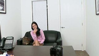 Hot Brunette Jenna J. Ross Comes For A Casting In Porn Movies