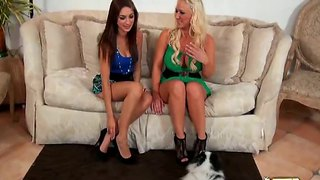 Sweet Mila Gabor And Molly Cavalli Making Out