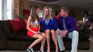 Amazing And Hot Threesome Scene With Bill Bailey, Brandi Love And Riley Reid