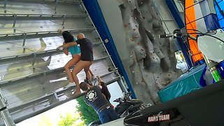 Extreme Sex On The Climbing Wall