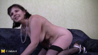 Amateur Mature Mother Plays With Herself