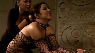 Hot Mistress Playing With Her Sex Slave