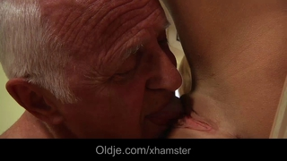 Oldman Calm Down Spoiled Teen Tiffany With Fuck
