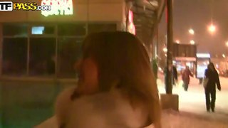 Hot Babe Having Dirty Talk At A Public Place
