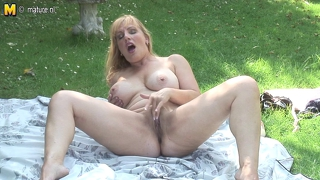 Hot blonde british mother going naughty at the park