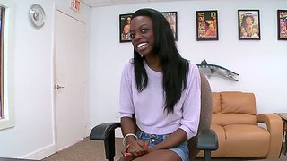 Pretty Black Teen Girl Tiffany Tailor Films A Video For Fans