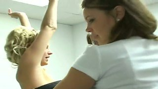 Ultra Hot Secretaries Brianna Ray, Monica And Whitney Found A Found A Free Moment For A Hot Threesome In The Office