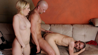 Her Bf Wants To Have Her Male Friend's Dick Inside His Ass!