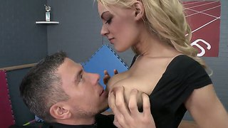 Blonde Teen Loulou Gets Massively Fucked By Horny Male Mick Blue And His Long Dick