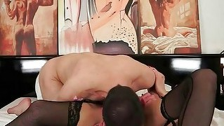 Granny And A Boy Enjoyng Hot Nasty Sex