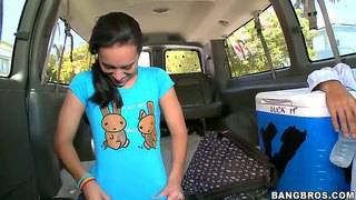Amazing nina lee loves to ride on the bang bus