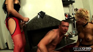 Hungry shemale is porking both her male friend and sexy tranny