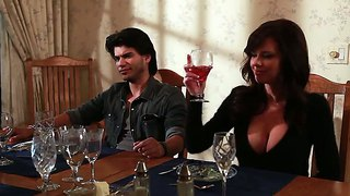 India Summer Shakes Her Tits On Supper Party