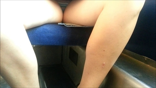 Upskirt In A Train Wide Open Legs