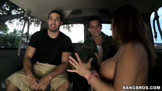 All in a day's work, this pornstar whore has now fucked eight dudes