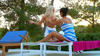 Two Awesome Skinny Babes Gone Wild, Featuring Megana