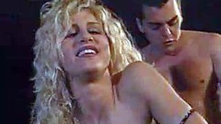 Arousing tanned blonde with big juicy boobs and sexy body gets fucked hard by her husband and enjoys making him cum in her mouth in hardcore session in front of their mansion