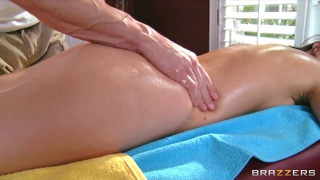 Lily Carter Is Oiled Up & Fucked In The Ass By Her Masseur