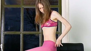 Sexy And Young Russian Baby Gloria Always Shows Her Skinny Body And Masturbates