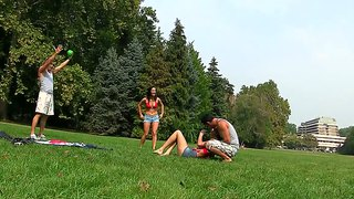 Cuties lyen parker and madlin moon go for foursome