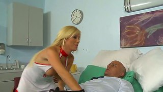 The Amazing Blonde Nurse Tasha Reign Makes A Perfect Blonde To The Ben English In A Hospital