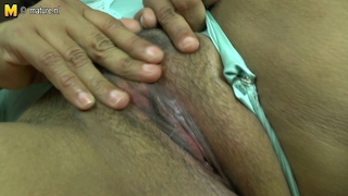 Mature Latin Mother With Hairy Pussy