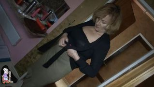 Old Dyke Gets Fucked With A Dildo
