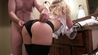 Black Panties Assjob And Cumshot