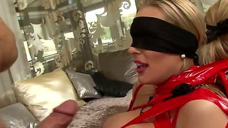 Rocco Mouth-Rapes A Blindfolded Blonde Chick