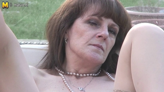British Amateur Granny Gets Naughty And Wet