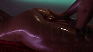 Oiled Strapon Sex