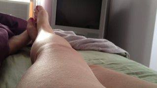 Wifes Feet,hairy Pussy,soft Tits, Takes A Lot To Wake Her.