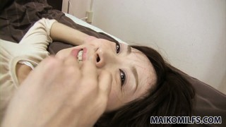 With a vibrator working wonders on her hungry peach, the hot milf gets pretty excited