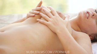 Nubile films - bigtit goddess whitney westgate oiled up pussy rub