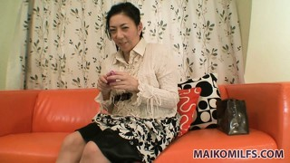 Fat japanese woman treats herself to a kinky casting couch session