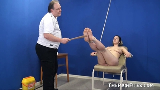 Feet Whipping Bondage And Foot Fetish Of Amateur Bdsm Slave