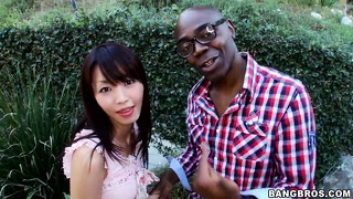 Nice asian whore meets the high-caliber shaft for the first time