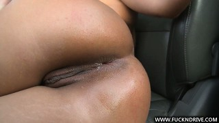Watch as this brown babe climbs onto a fine ride to fuck herself