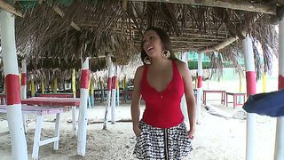 Brunette Milf Angelina Gets Teased Into Fucking This Guy While At The Beach
