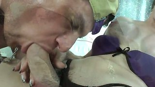 Alex Victor Is Sucking Cocks Of Two Trannies