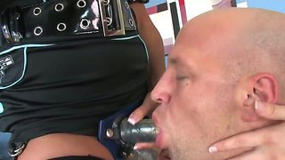 Nasty Babe Make Hot Stud Christian Xxx To Suck Their Straped Cocks
