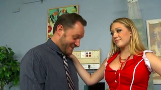 A Busty Blonde Nurse Volunteers Her Services