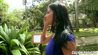 Beautiful Latina Juliana Gets Naughty Outdoor