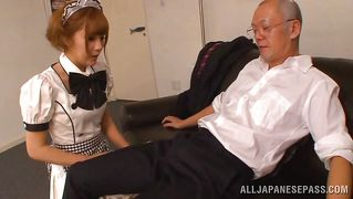Horny Slave Pleases Her Master With Mouthwork.