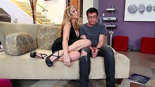 Dane Cross And Julia Ann Making Out On The Couch