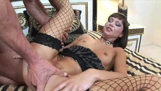 Anal Lover Angelina Crow Is Dressed In Fishnets