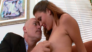 Lovely redhead allie haze fucks her job interviewer