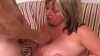Horny Hot Stud Jay Enjoys Having Naughty Mature Blonde Marie Sucking And Fucking With Him