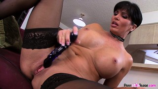 Shay fox is a horny milf with a toy and a wet hole to plug with it