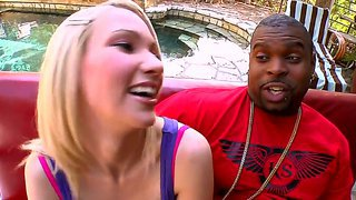 Blonde Teen Sara Monroe Is So Fascinated About Her New Boyfriend And Tries His Awesome Black Ramrod